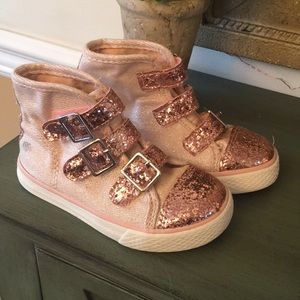 Other - Rose Gold Sparkle High Top Sneakers